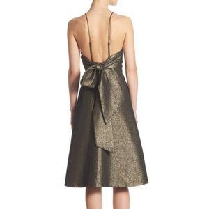 NEW Halston Heritage Glittered Jacquard Bow Dress